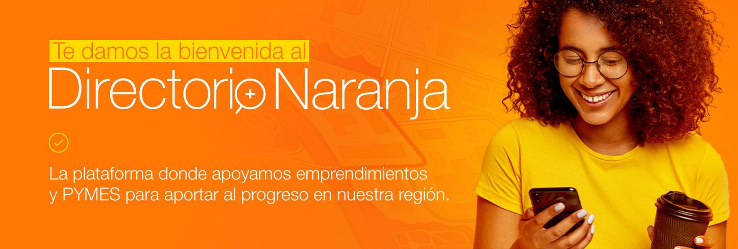 Banner Bienvenida Directorio Naranja
